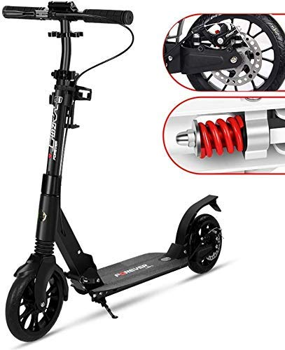%17 OFF! CFJKN Adult Scooters with Big Wheels, with Disc Handbrake Commuter Scooter Folding Adjustab...