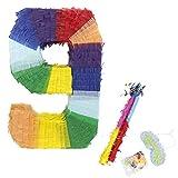 Eseewin Pinata Unique Party Pecorations Mix Couleur Papier Accessoires Bonbons Faveurs Décoration Idéal pour Anniversaire d'enfants, Fêtes, Fêtes et Célébrations (9)