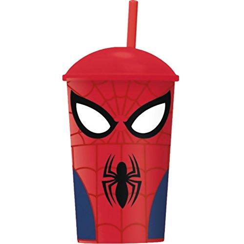 Verre Avec Paille Et Couvercle Spider Man Attacks