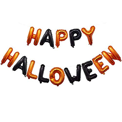 Halloween Ballons Set,Halloween Party Ballons 16 Zoll Happy Halloween Brief Aluminium Ballon Halloween Party Dekoration