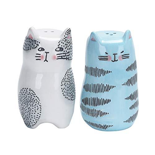 Bico Salz- und Pfefferstreuer aus Keramik Cartoon-Katze