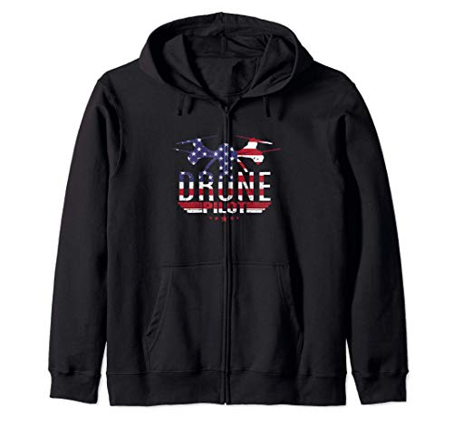 American Flag RC Drone Flying Aircraft Quadcopter Pilot Gift Sudadera con Capucha