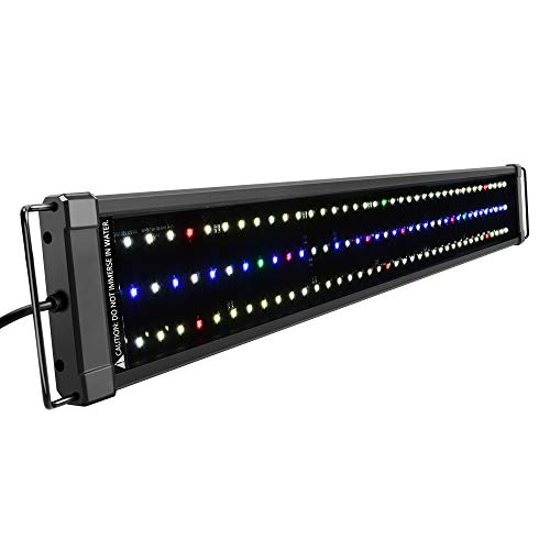 NICREW ClassicLED Plus Ho Lampada Acquario, Plafoniera LED Acquario a Spettro Completo, Luce Acquario Piante Impermeabile, 75-100 cm, 34W 1265LM
