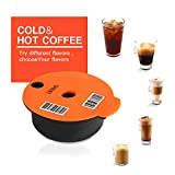 Cápsulas de café rellenables, cápsulas de café de acero inoxidable compatibles con máquinas Tassimo (180 ml)