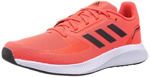 adidas Runfalcon 2.0, Road Running Shoe Hombre, Solar Red/Carbon/Grey, 41 1/3 EU