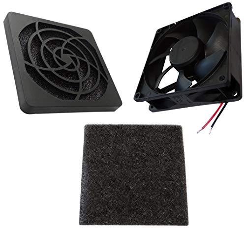 AERZETIX - Ventilador para Caja de Ordenador PC - Rejilla - Filtro - 92x92x25mm - 3400RPM - C14587A