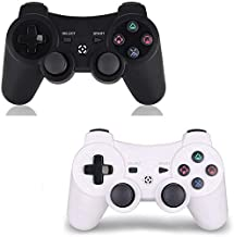 $20 » PS3 Controller Wireless 2 Pack - for Dualshock 3 Remote for Playstation 3,DS3 Joystick with Sixaxis (White+Black)