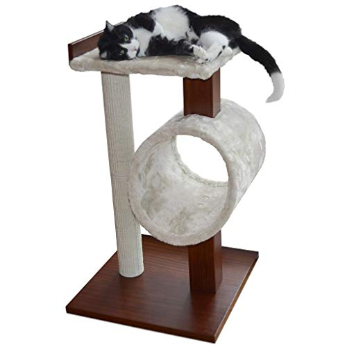 """PetFusion Modern Cat Tree House & Tall Scratching Post (33"""" tall)"""