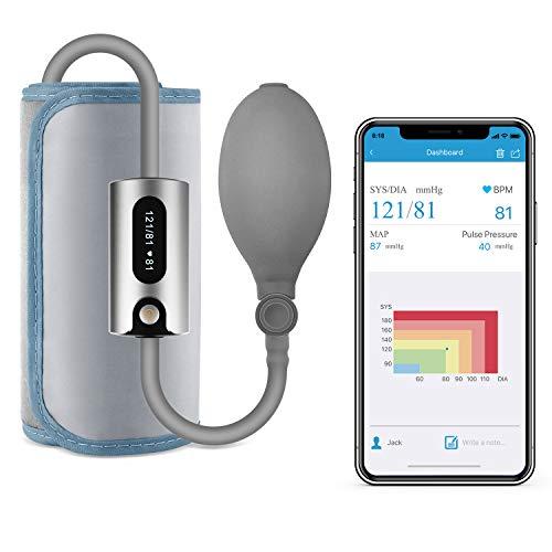 Wellue AirBP Plus Tensiómetro de Brazo Bluetooth, Tensiómetro Inalámbrico Portátil con Pantalla LED, Informe de múltiples usuarios y PDF en la aplicación para iOS y Android