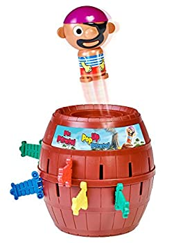 TOMY Pile Up Pirates Game - Provides Plenty of Swashbucklin  Fun on Family Game Night Brown