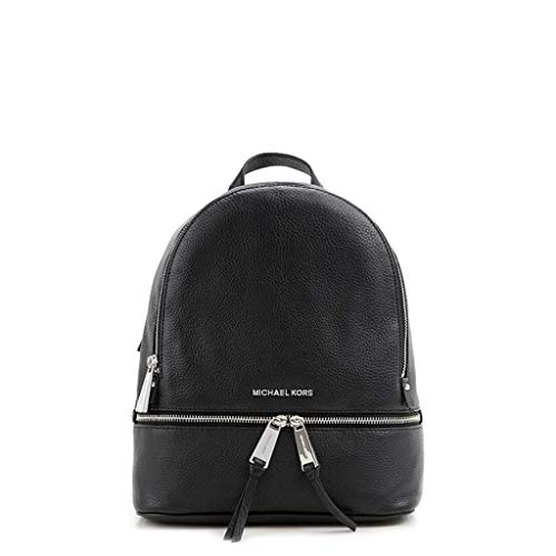MOCHILA RHEA ZIP MEDIUM BACK PACK NEGRA MICHAEL KORS