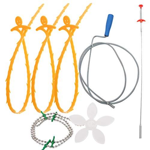 Angoily 6 STK. Abflussreinigungswerkzeug Schlangenablauf-Verstopfungsentferner Robuster Abwasserbagger Abflussreinigungswerkzeug Kanalverstopfungsentferner für Küchenhaus