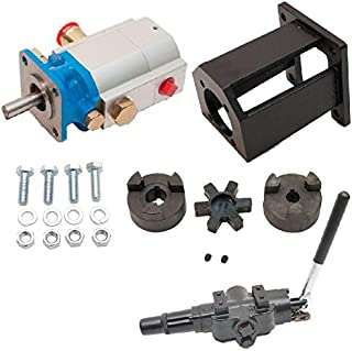 "ToolTuff Log Splitter Build Kit: 16 GPM Pump, Mount, A7 Auto Return Valve, Bolts, Coupler (for 1"" Engine Crankshaft)"