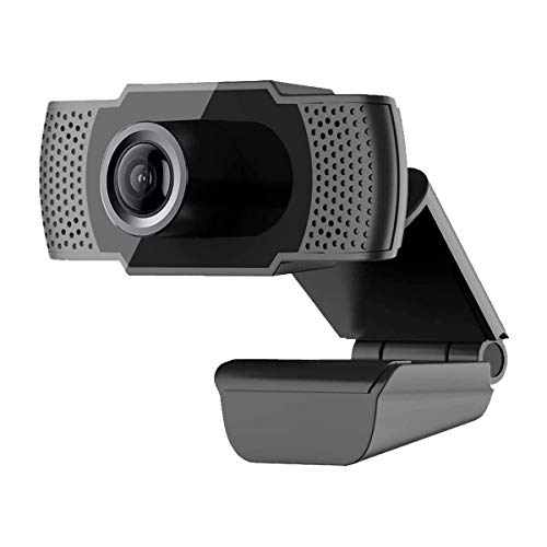 ANKNQ 1080P HD Webcam with Microphone Deskstop USB 2.0 Live Streaming Stereo Auto Light Correction Web Camera for Laptop PC Computer, Video Calling Webcam for Windows Mac OS