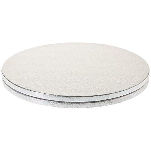 Decora CF. 2 CAKEBORD TONDI Silver Ø 0931245 Cakeboard Tondo in Cartone Pressato Rigido di Pura Cellulosa, Diametro 30 cm, Argento, Set di 2