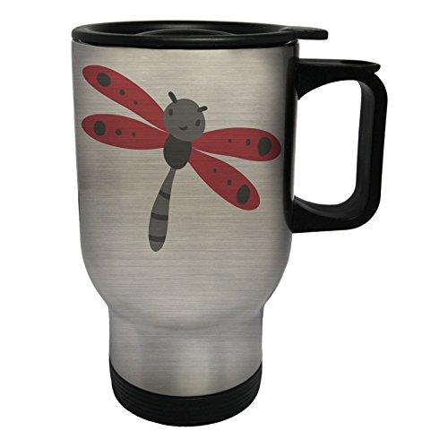 INNOGLEN Smile Bug Glücklich Edelstahl Thermischer Reisebecher 14oz 400ml Becher Tasse p899ts