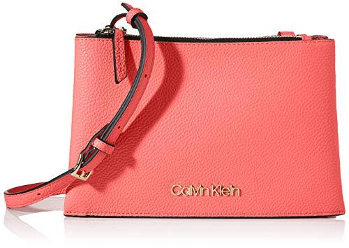 Calvin Klein Damen Sided Trio Crossbody Umhängetasche, Rot (Coral), 1x1x1 cm