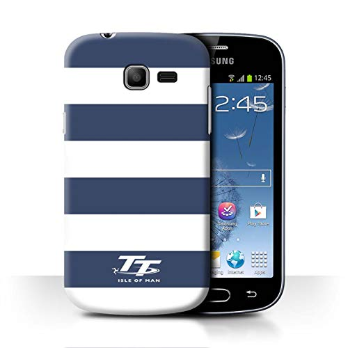 Isle of Man TT STUFF4 Phone Case/Cover/Skin/SGT-CC/Elegance Collection Samsung Galaxy Trend Lite/S7390 Blauwe zebra