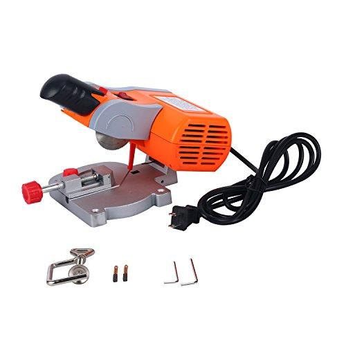 YaeTek 110V Mini Bench Top Cut-off Miter Saw for Arts & Crafts Cutting Wood Plastic Metal Benchtop DIY - 2' Blade 1/2' Cuting Depth