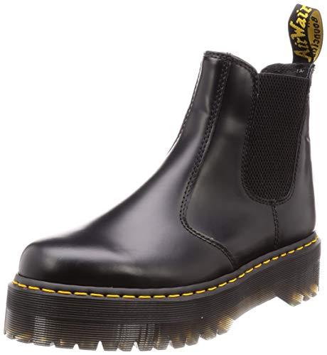 Dr. Martens 2976 Platform Chelsea Boot, Black Polished Smooth, 6 UK (Women's 8 M US/Men's 7 M US)