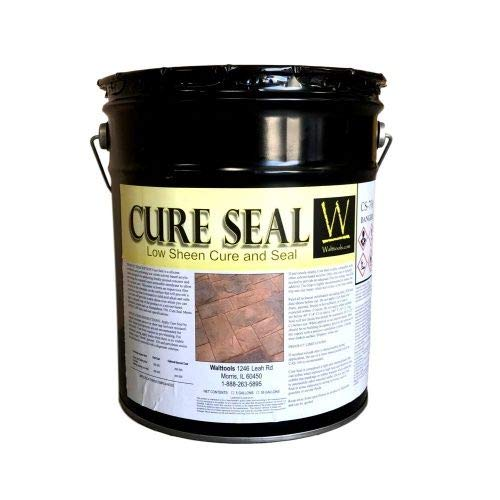 Cure Seal 700 | Low-Solids, Penetrating, Curing Agent for Decorative or Plain Concrete (5 Gallon)