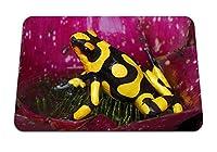 26cmx21cm マウスパッド (カエルは草の花びらを発見) パターンカスタムの マウスパッド