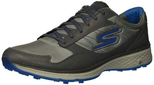 Skechers Herren Golf Shoe Fairway Plus Fit, Golfschuhe, Charcoal/Blau, 50 EU