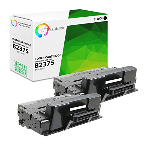 TCT Premium Compatible Toner Cartridge Replacement for Dell 593-BBBJ Black High Yield Works with Dell B2375DNF B2375DFW Printers (10,000 Pages) - 2 Pack