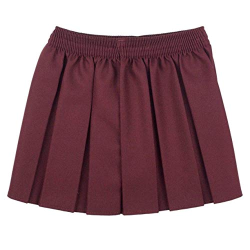 CreativeMinds UK uniforme scolastica ragazze estate formale vestito fondo completo elastico box pieghe gonna solo Uniform vino 3-4 Anni