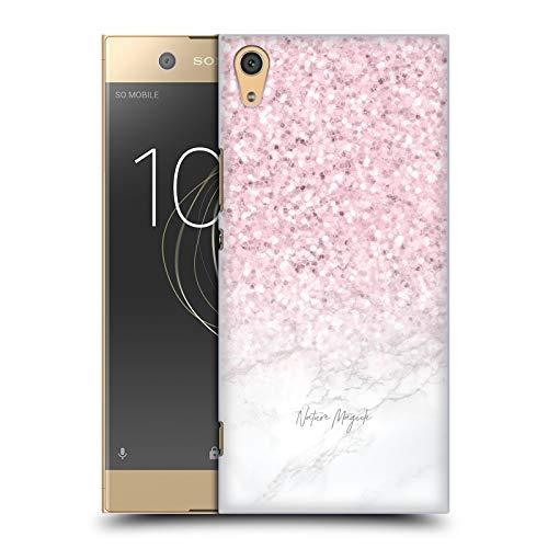 Head Hülle Designs Offizielle Nature Magick Glittery Pink Rose Gold Pastel Glitter Marble Harte Rueckseiten Huelle kompatibel mit Sony Xperia XA1 Ultra/Dual