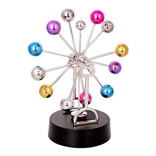 XzkI Riesenrad Elektromagnetische Pendel Ewiges Instrument Modell Desktop Dekorative Globus Kreative Farbe Kunststoff Student Geschenk,Chrome
