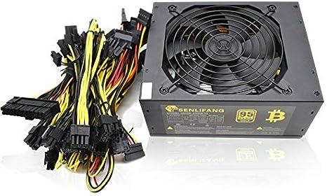 Fuente de alimentación ATX para minería de Bitcoin, 95 % de alta eficiencia, de 2000 W, 180–260 V, para Ethernet ETH S9 S7 L3 8GPU máx. de tarjetas admitidas