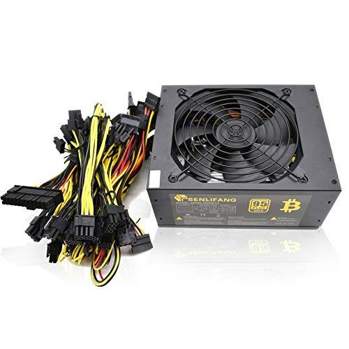 Fuente de alimentación ATX, 2000 W, 180 – 260 V, potencia de mining Bitcoin 95% de alta eficiencia para Ethernet ETH S9 S7 L3 8GPU tarjetas admiten máx.