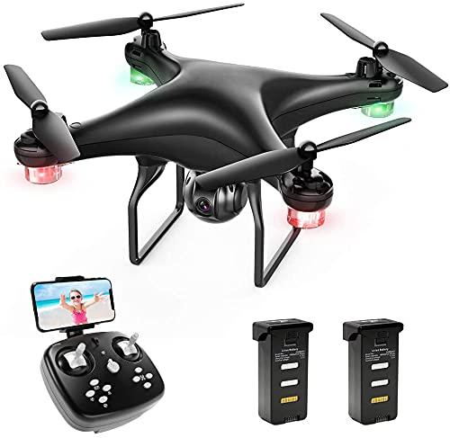 Dron SP600 con cámara 720P HD, 30 minutos de tiempo de vuelo, transmisión en directo, WiFi FPV RC cuadricóptero, gran angular de 120°, alta durabilidad, giro de 360°, modo sin cabeza.