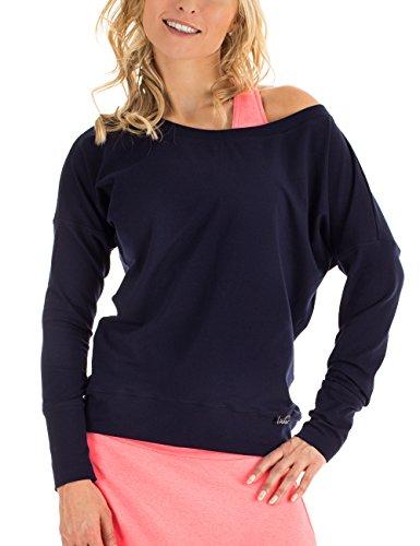 WINSHAPE T-Shirt à Manches Longues pour Femme - pour Les Loisirs, Le Sport, la Danse, Le Fitness - Bleu Nuit - Taille M