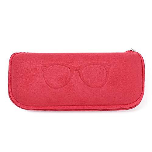 Caja de protección de gafas de sol con cierre de cremallera y funda para gafas de lectura