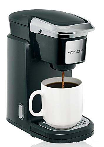 Mixpresso Single Cup Coffee Maker | Personal, Single Serve Coffee Brewer Machine, Compatible With K-Cups