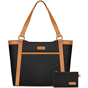 Laptop Tote Bag for Women Large Capacity Work Bags for Women Water-Resistant Womens Briefcase Teacher Bag Computer Bag Fits 15.6 inch Laptop