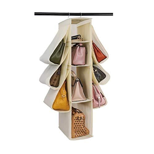 Oyria 10 bolsillos bolsa de almacenamiento para colgar monedero, organizador de bolsas de tela para guardarropa