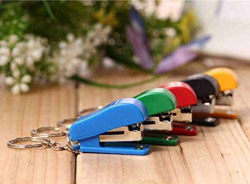 N-K PULABO 1Pc Portable Labor-Saving Mini Stapler Small Size Manual Stapler Random Color Premium Quality Delicate