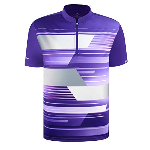 SAVALINO Men's Bowling Sublimation Printed Jersey, Material Wicks Sweat & Dries Fast, Size S-5XL Purple
