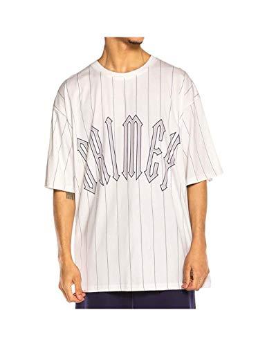 GRIMEY Camiseta Carnitas Stripes tee SS20 White-M