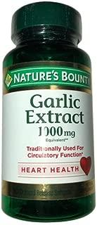 Nature's Bounty Garlic 1000 mg Softgels 100 ea (Pack of 12)