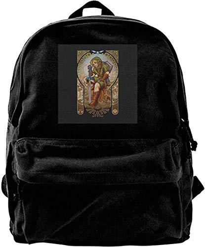 Homebe Mochila antirrobo Impermeable,Canvas Backpack Zelda Link Hylian Spirit Rucksack Gym Hiking Laptop Shoulder Bag Daypack for Men Women