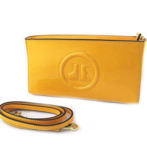 Borsa in pelle 'Jacques Esterel'vernice gialla.