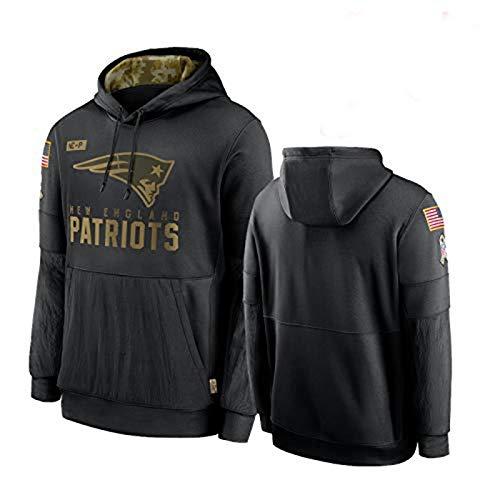 Patriots 2020 Damen und Herren Salute to Service Sideline Performance Pullover Hoodie American Football Rugby Sport Top (XS - XXXXL) Gr. L, Männer