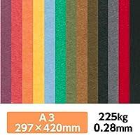 厚紙カラーペーパー『ケンラン(特色) 225Kg(=0.28mm)』 A3(297×420mm) 20枚【印刷・工作・名刺・カード・紙飛行機・ペーパークラフト】 ディープレッド