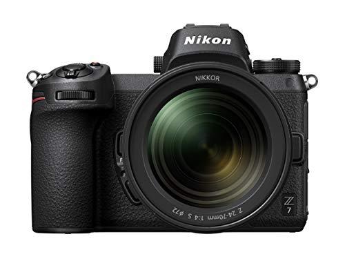 Nikon Z 7 Spiegellose Vollformat-Kamera mit Nikon 24-70 mm 1:4 S und FTZ-Adapter (45,7 MP, AF mit 493 Messfeldern, 5 Achsen-Bildstabilisator, OLED-Sucher mit 3,69 Millionen Bildpunkten, 4K UHD Video)