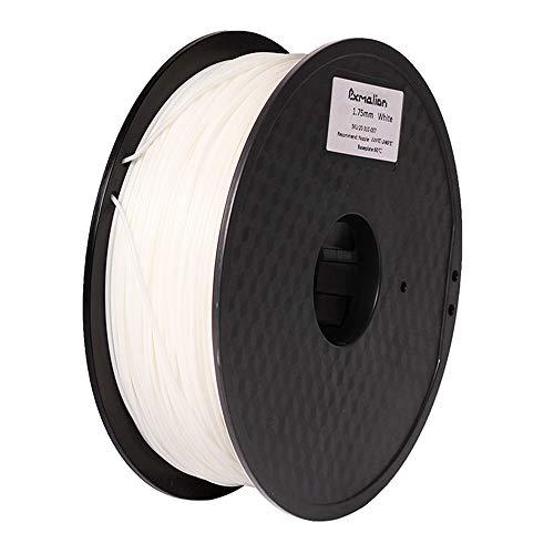 Pxmalion ABS 3Dプリンター用フィラメント素材 マテリアルABS樹脂材料 1.75mm径 正味量1KG(2.2LB) 精確度+/- 0.03mm だいぶの3Dプリンターと3Dプリントペンが適用 (白/ホワイト)