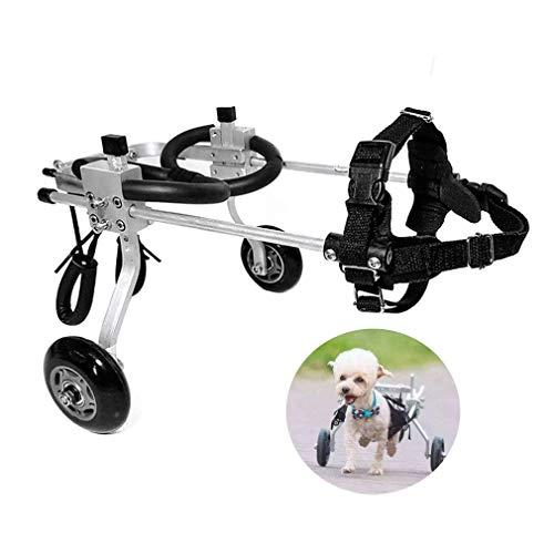 YANGLOU-Haustier Rollstuhl- Hundrollstuhl, Haustierwagen, Geeignet für große kleine Hunde Katze Welpen Hinterbeine Rehabilitation Behinderte Behinderte Lähmung Verletzte Unterstützung, Verstellbar, 2
